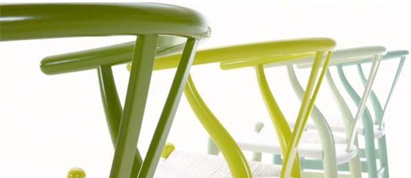 Y stolen i friske forårsfarver