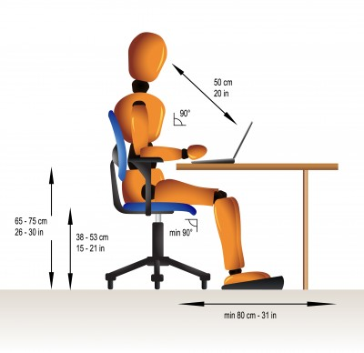 Få en bedre arbejdsstilling med en ergonomisk stol