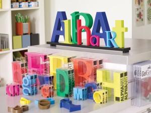 Farverige og dekorative bogstaver